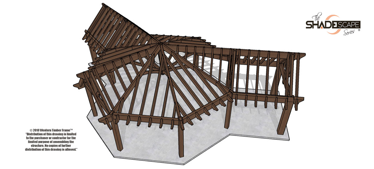 gazebo with attached pavilions