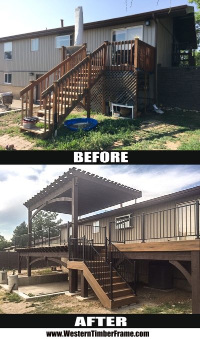 before and after pergola deck