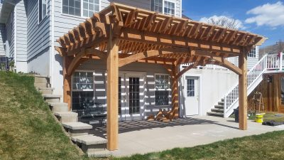 DIY solid cedar wood pergola kit