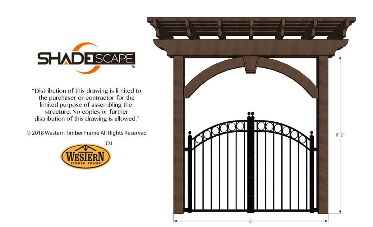 iron gate full arched knee brace trellis