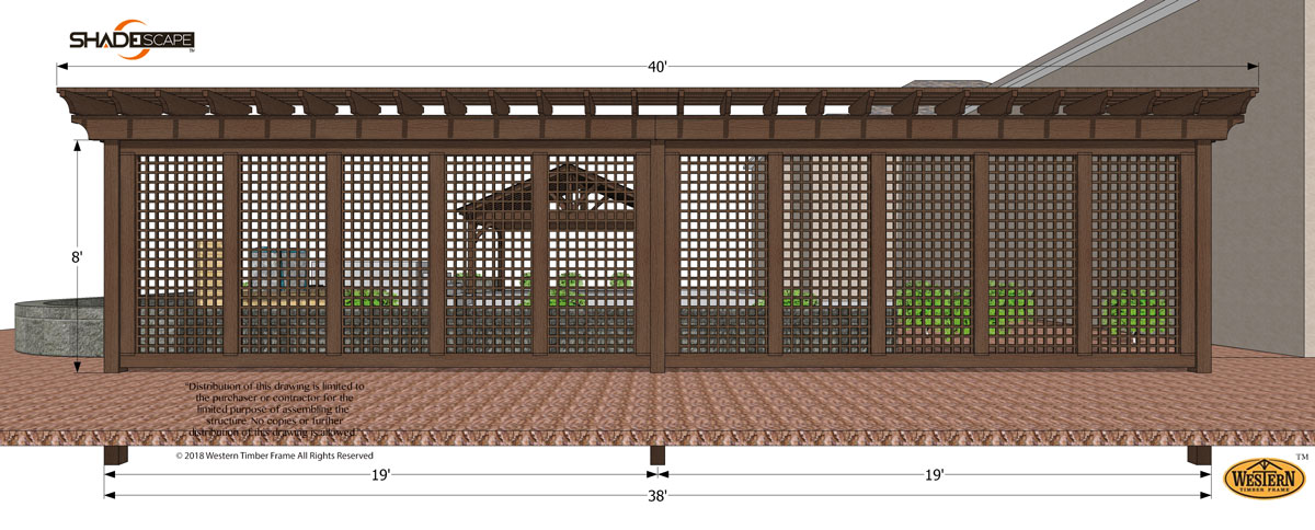 diy trellis plan with 40 ft privacy wall