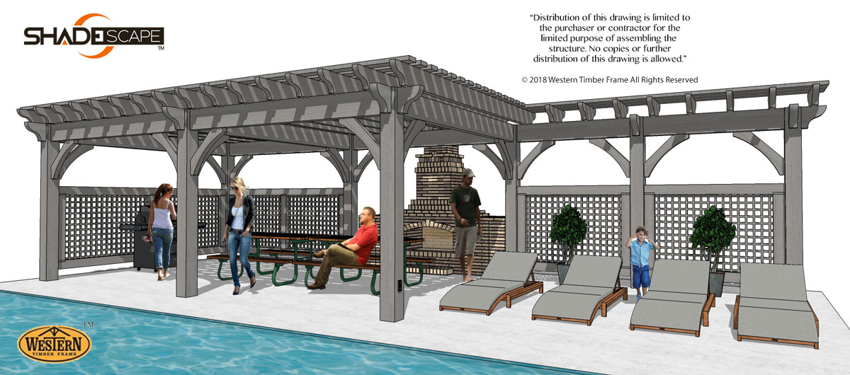 trellis plan attached to pergola