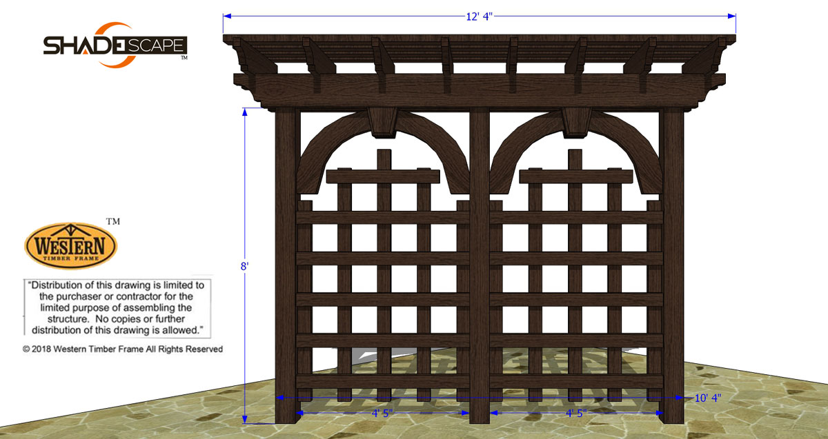 latticed trellis plan