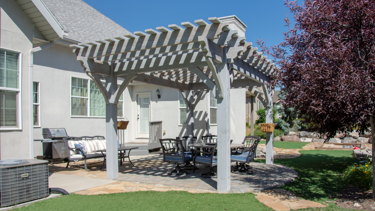 bleach finish pergola