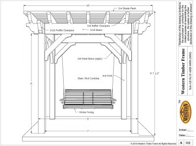 Diy arbor kit western timber frame easy to do garden arbor swing solutioingenieria