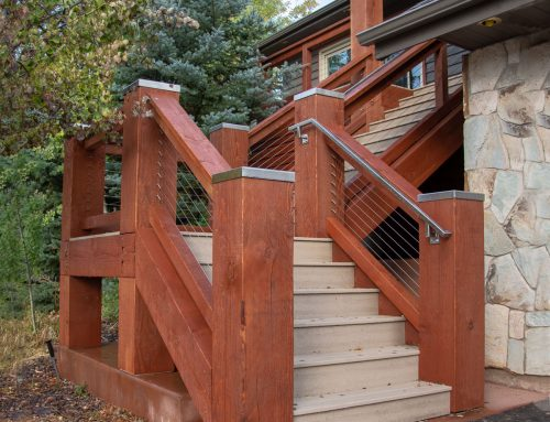 2 Decks w/Stainless Steel Post Covers & Cable Railing