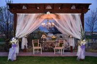valentines pergola for wedding center