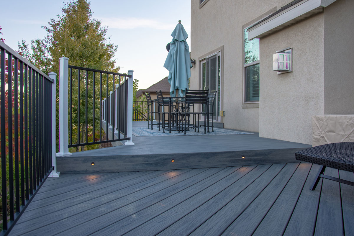 step-down deck with lights