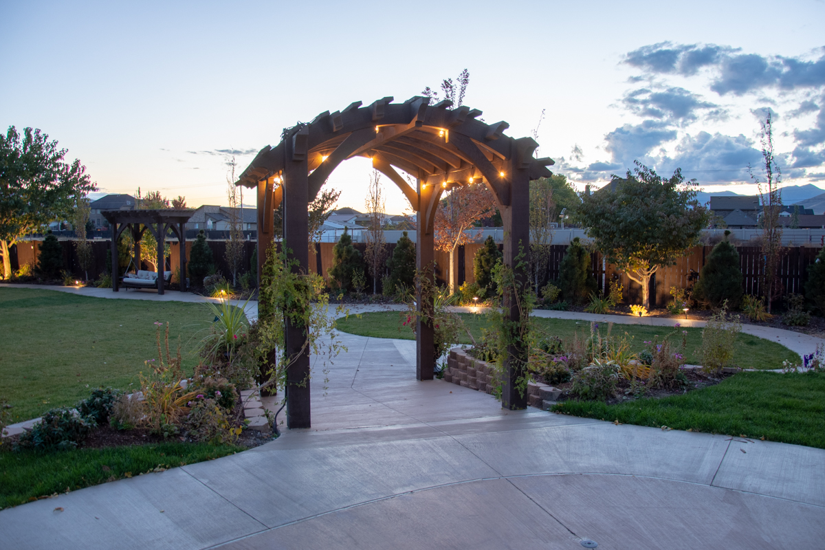 commercial arch top pergola
