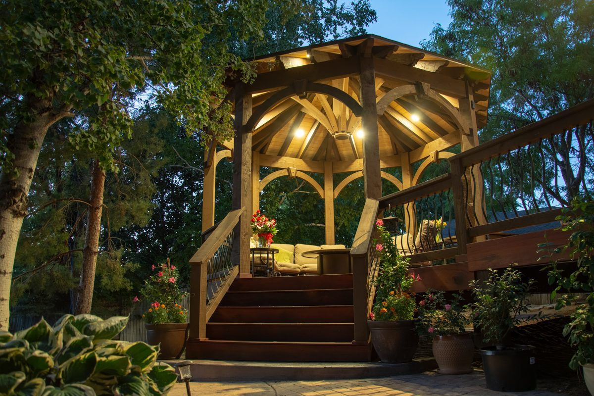 gazebo and deck timber