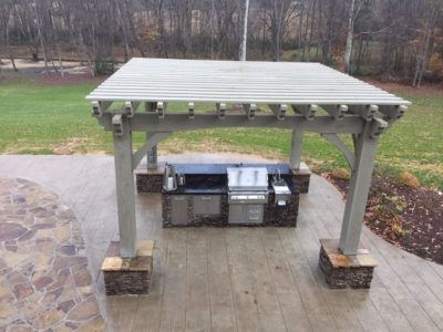 pergola power kitchen