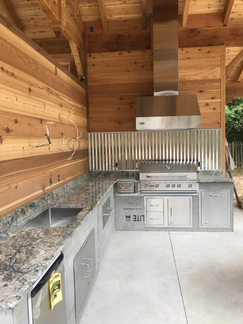#CedarOutdoorKitchen