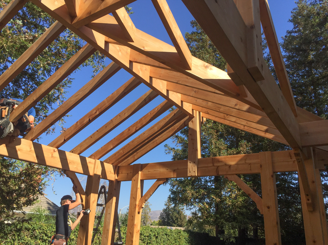 12 Post Western Red Cedar 3 Gable Pavilion | Western Timber