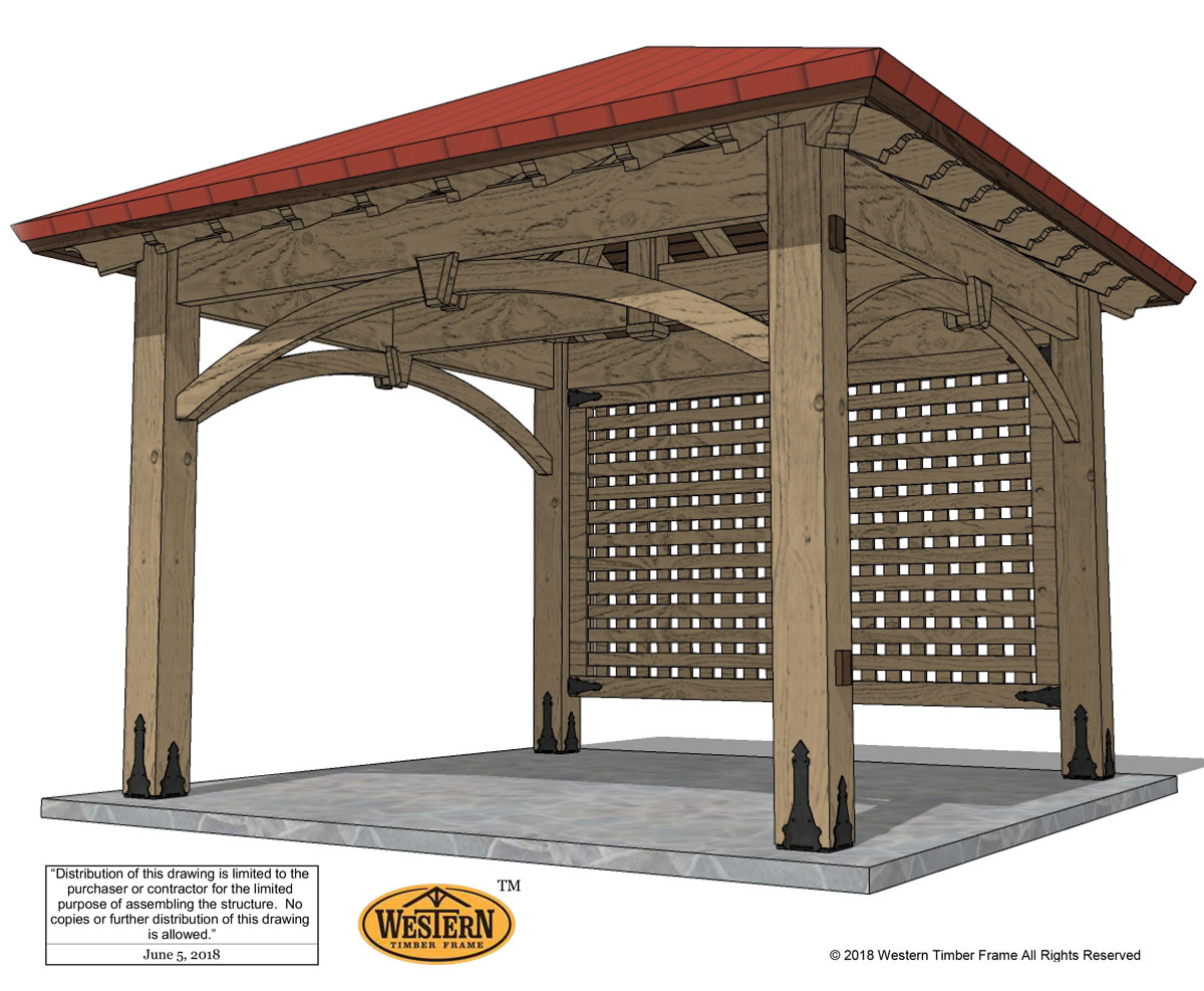 diy pavilion plan with fascia