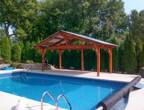 Swimming Pool Shelter w/Fast, Easy, Tough-InterLock DIY Kit