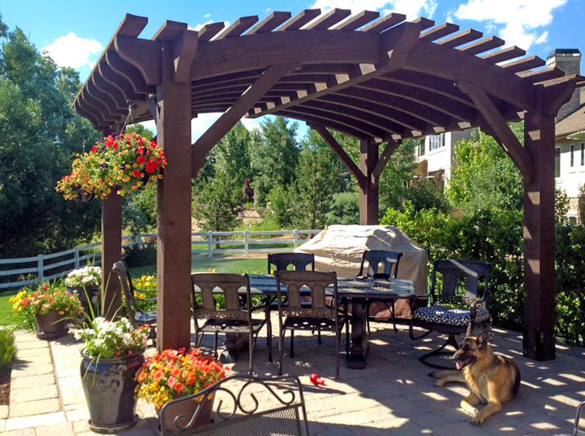 arched top pergola kit