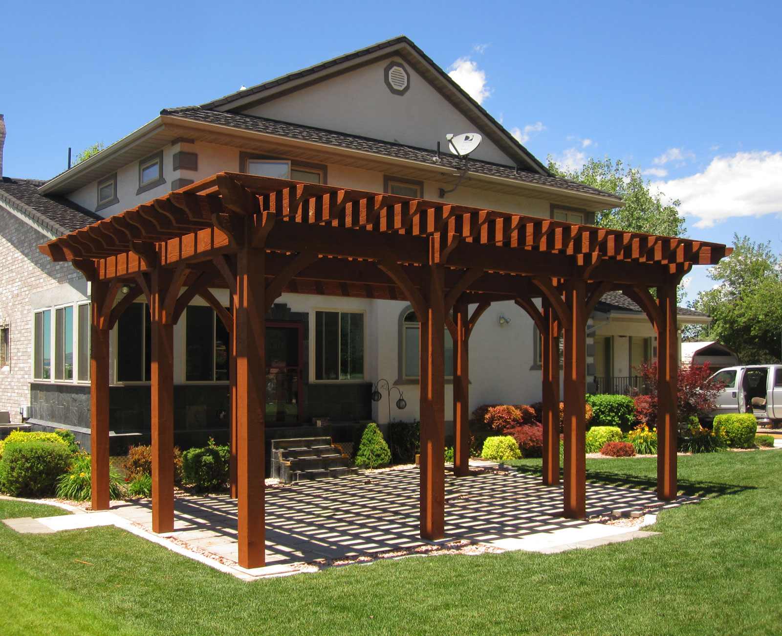 Rich Sequoia Premium Stain Color | Western Timber Frame on Sequoia Outdoor Living id=81866