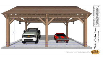Carport pavilion cover
