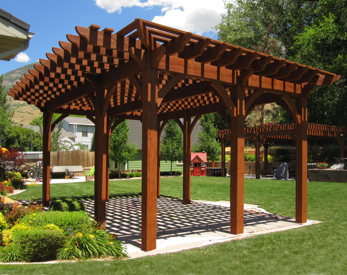 Rich Sequoia Premium Stain Color | Western Timber Frame on Sequoia Outdoor Living id=66136