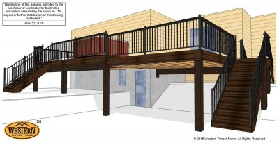 Deck and stairs plan