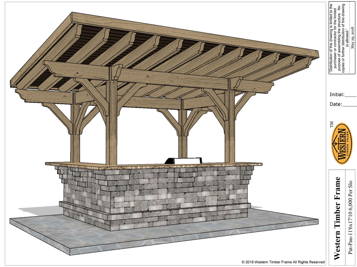 sloped cantilever diy-pavilion plan