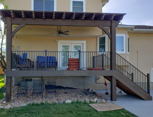He Built A Covered Deck w/Attached Pergola Kit