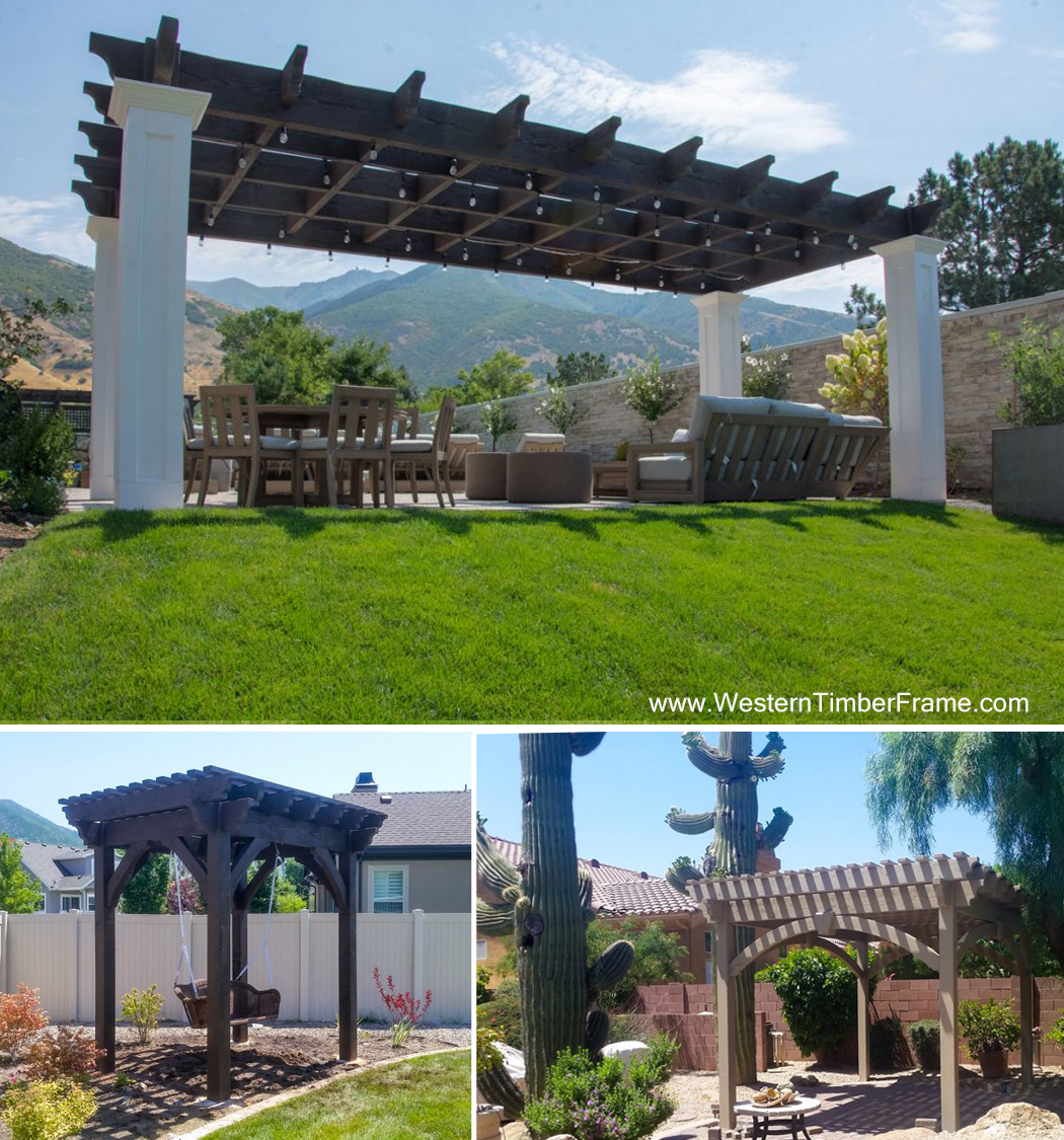three pergola kits