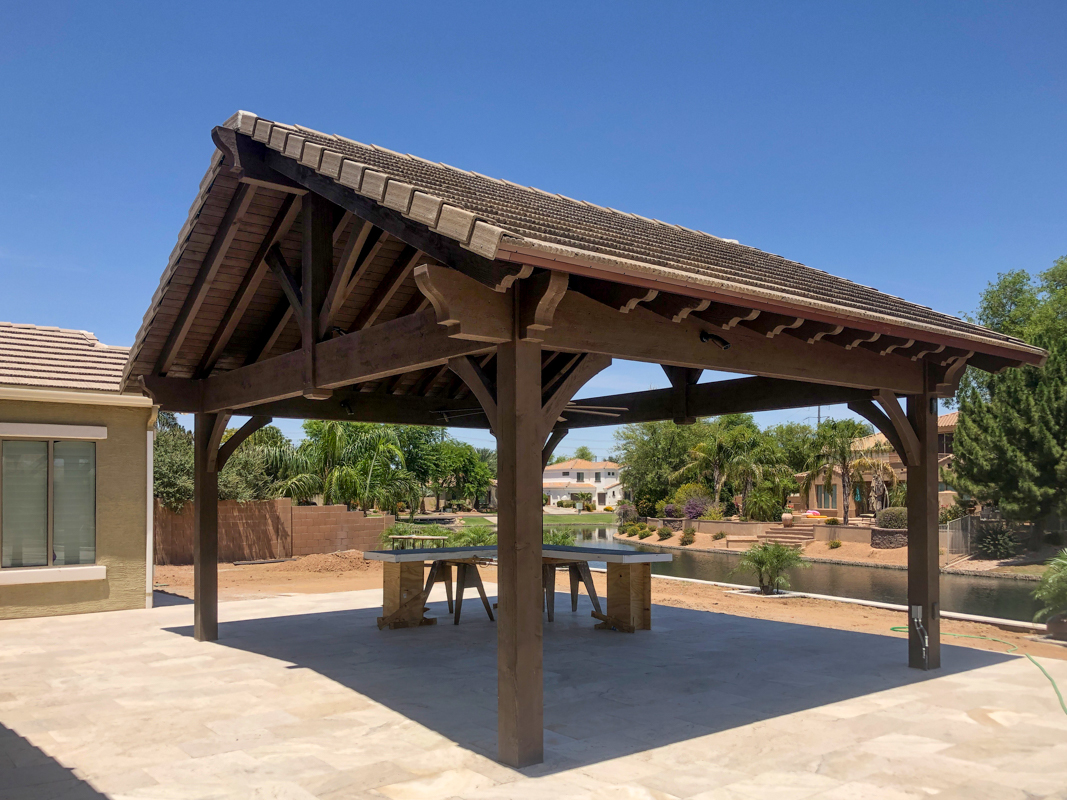 Tile roof pavilion kit