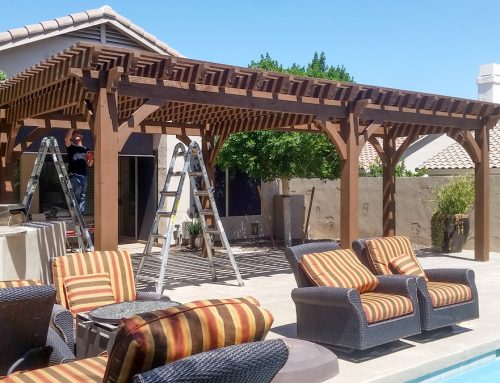 6 Post Early American Arizona Poolside Pergola