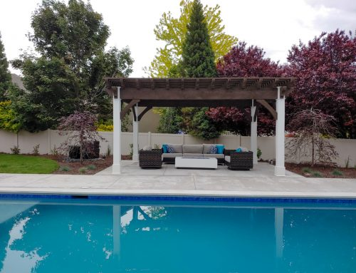 Marriage of the Rustic & Refined in Pool Pergola
