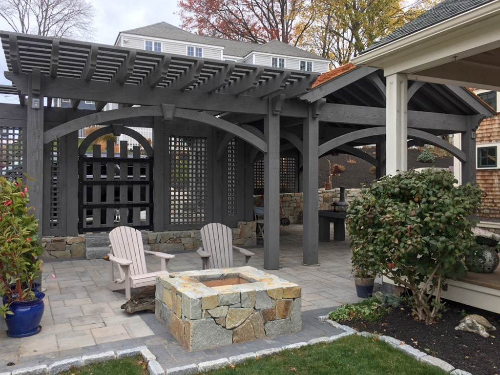 pergola gate privacy walls