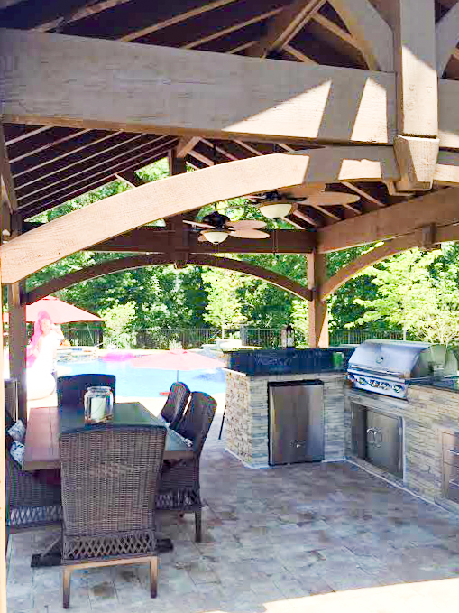 outdoor kitchen shadescape shelter