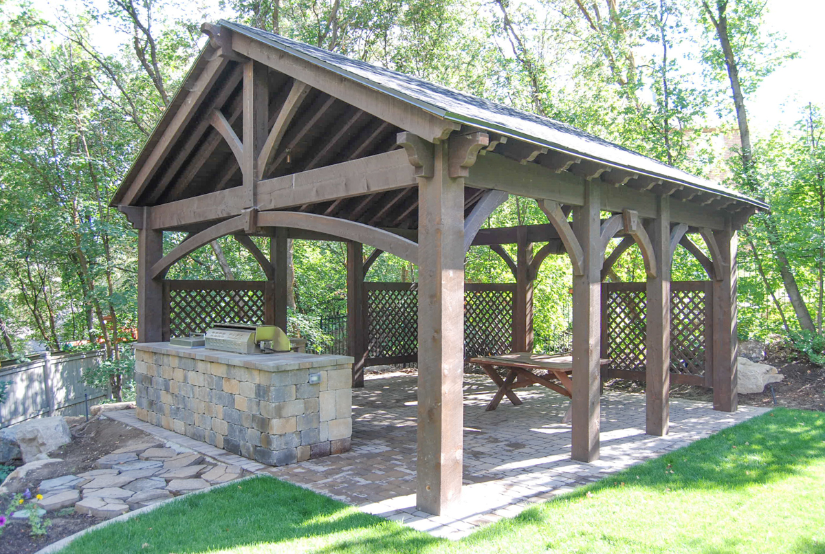 outdoor kitchen pavilion kit