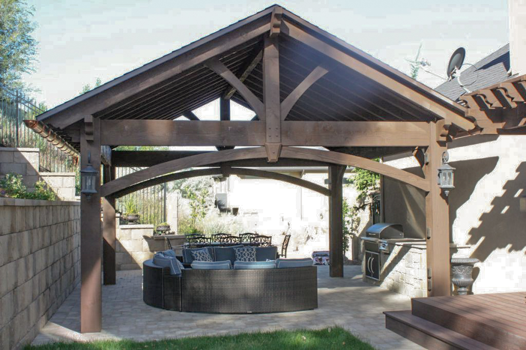 outdoor kitchen pavilion