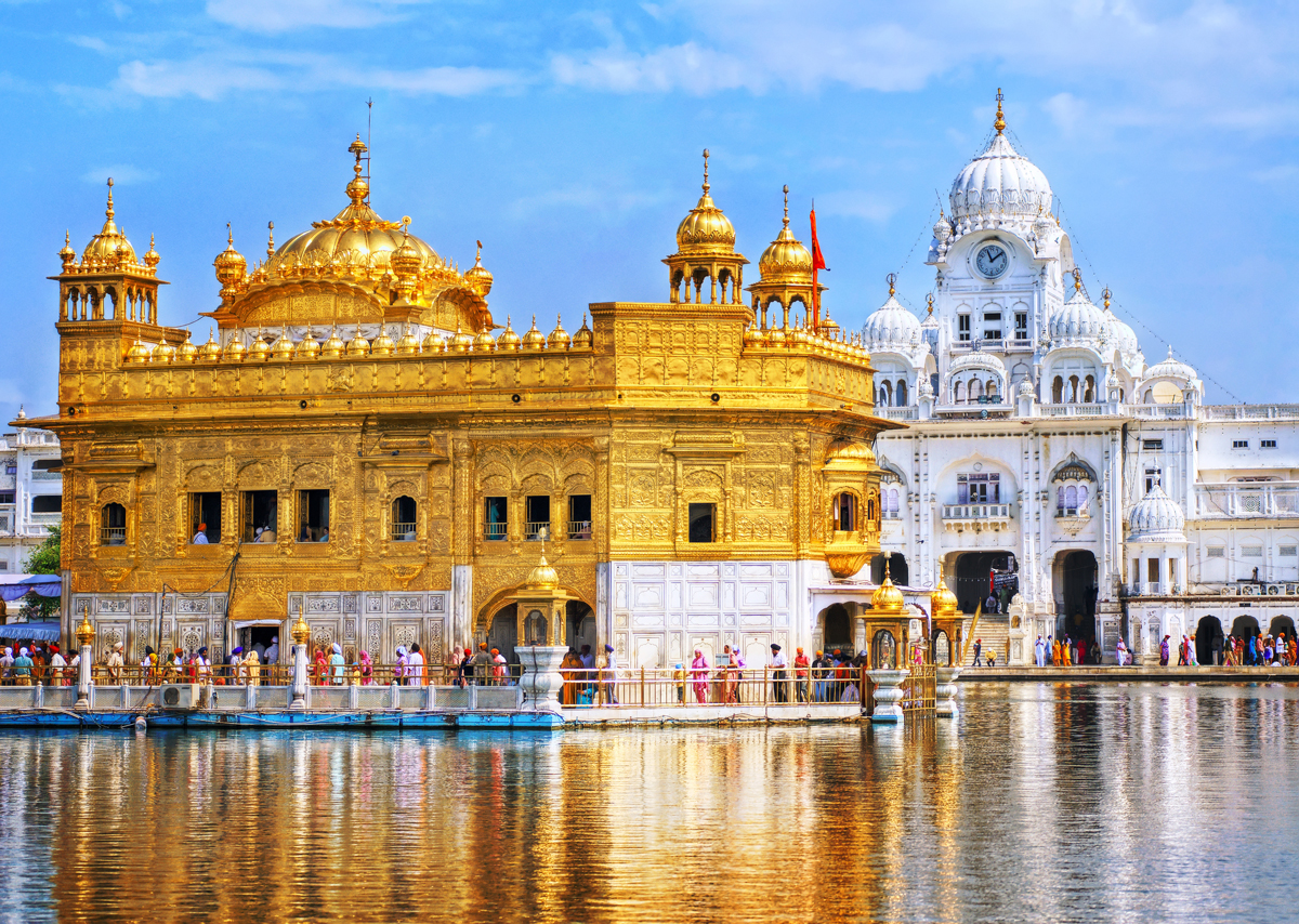 The golden temple in india