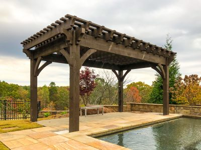 pergola for pool side shade