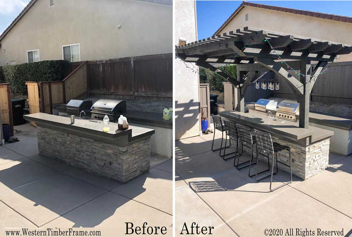 before after pergola install