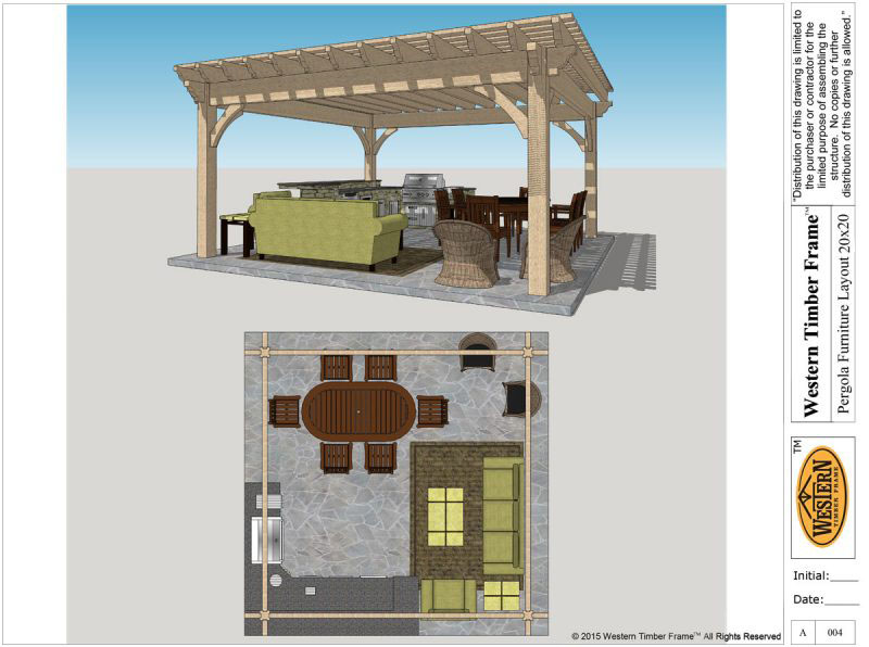 furniture layout pergola plan