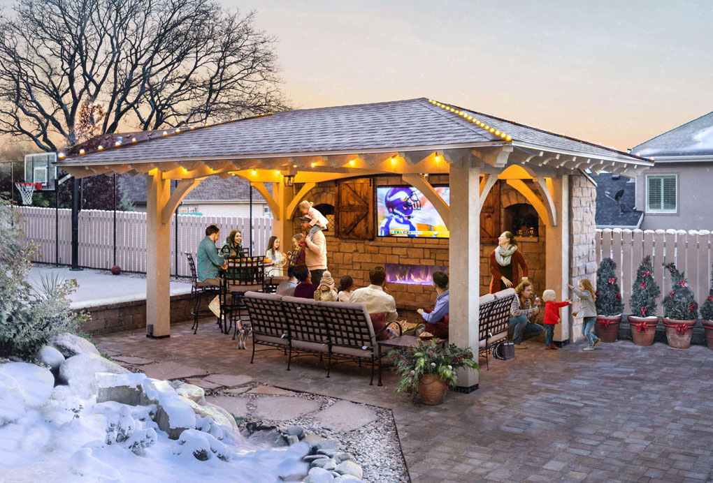 winter pergola tv kit