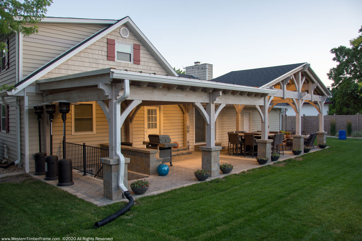 Pavilion pergola outdoor living rooms
