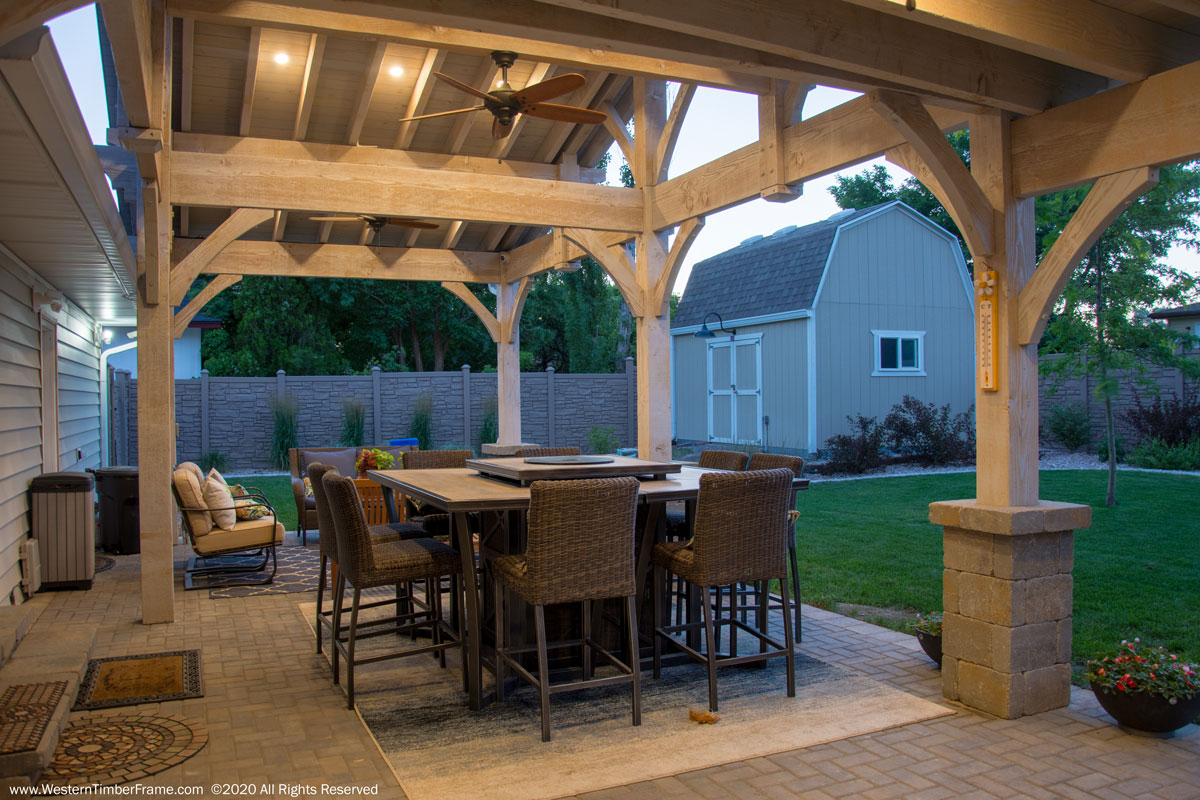 outdoor dining area pavilion