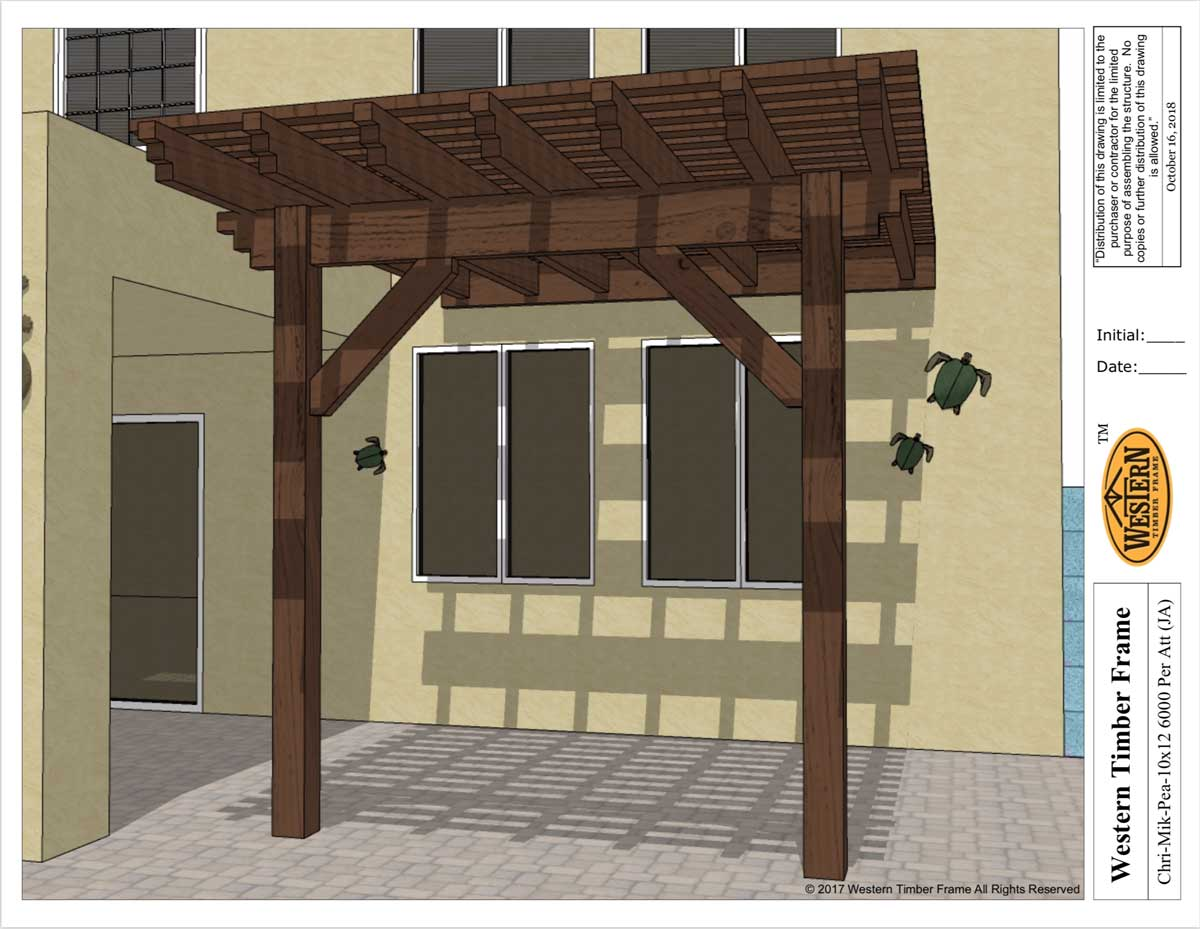 cantilevered attached diy pergola plan