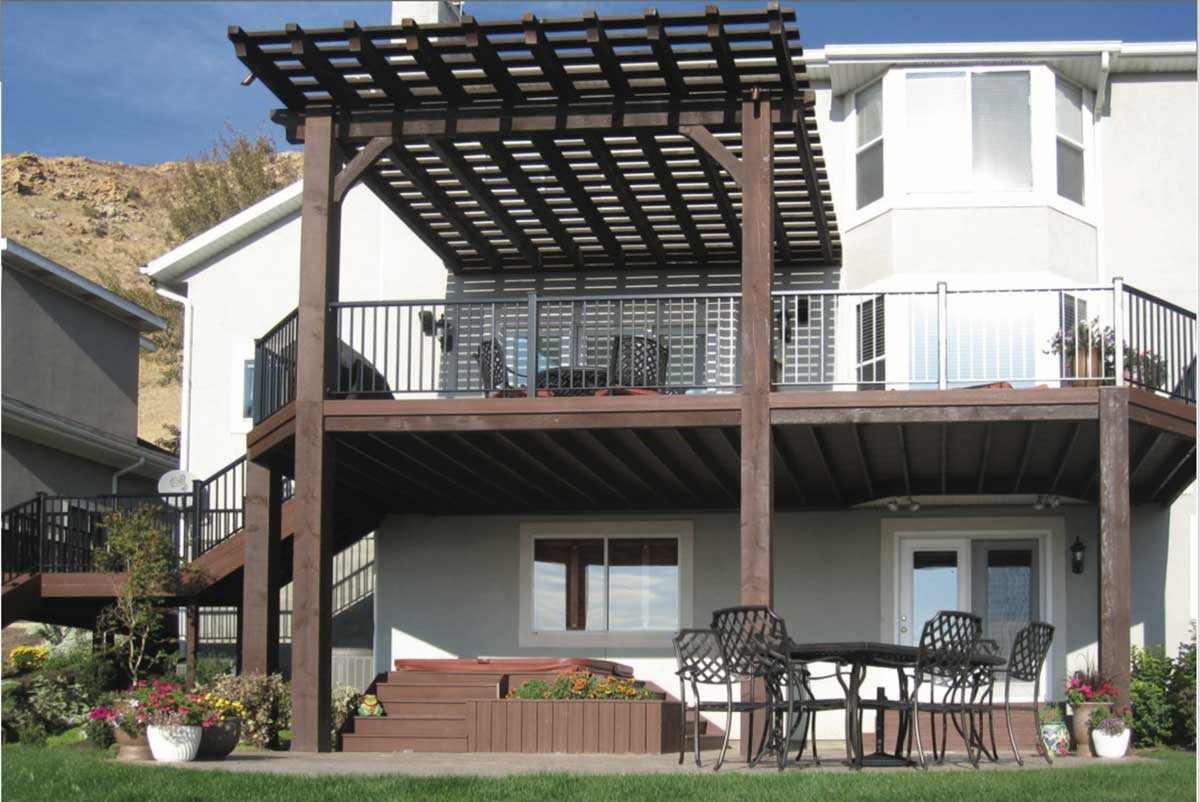 deck cantilevered roof pergola
