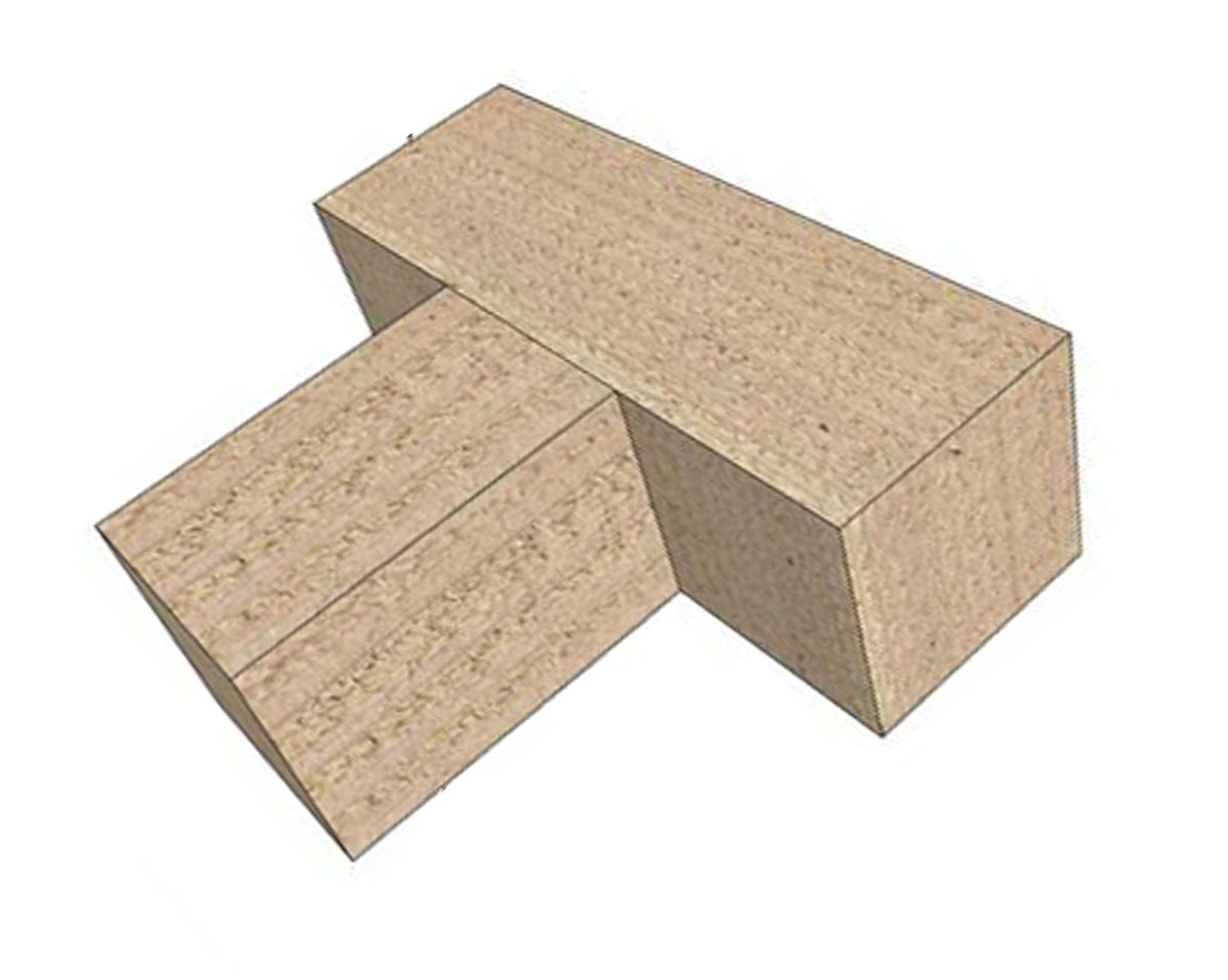 wood to wood mortise tenon conatural