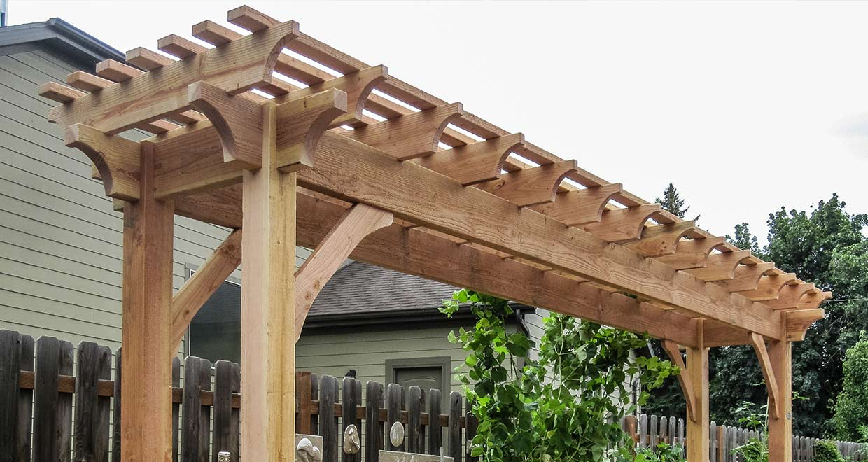 Crescent - Pergola Kits & Pergola Designs, Kit Construction, Pergola Planning